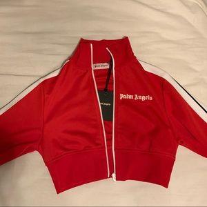 Palm Angels Crop Track Jacket Medium Size (Red)